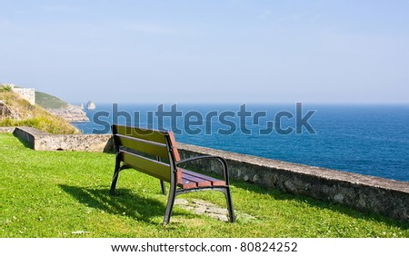 Ocean view from a bench