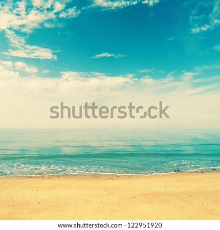ocean view from beach with...
