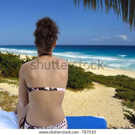 Ocean view on the beach at Cancun
