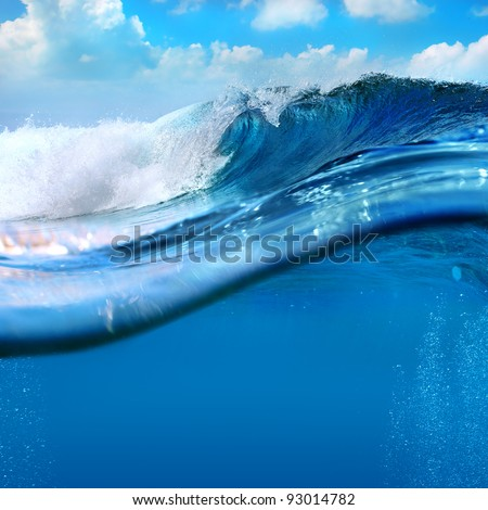 ocean-view seascape landscape breaking surfing ocean wave