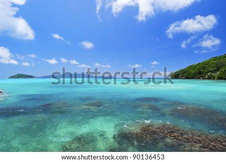 Ocean view. Seychelles island