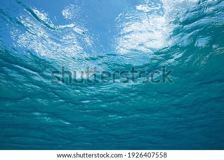 Ocean water surface seen from underwater, natural scene, Atlantic Stock photo ©