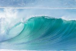 Ocean Wave Blue Water Ocean Wave blue swells crashing curling breaking sea water