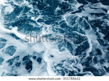 Ocean wave High Angle View Of Rippled Water #355788662