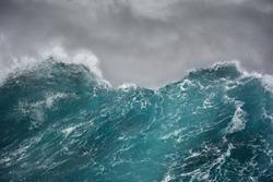 ocean wave in the indian ocean during storm