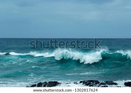 ocean waves breaking  #1302817624