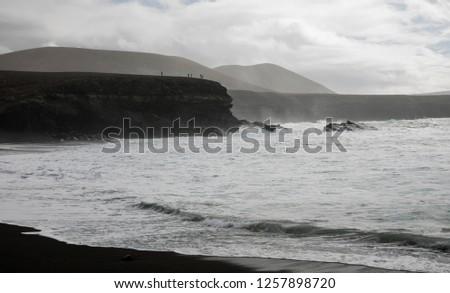 ocean waves breaking natural background #1257898720