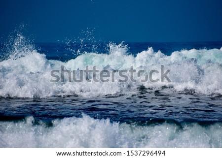 Ocean waves crashing and breaking #1537296494