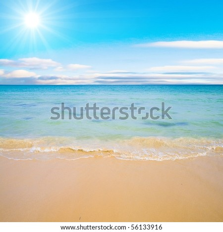 Ocean Waves Exhausted - stock photo