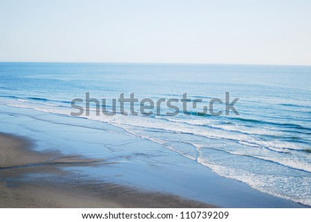 Ocean waves on the Washington state coast in Olympic National Park, USA