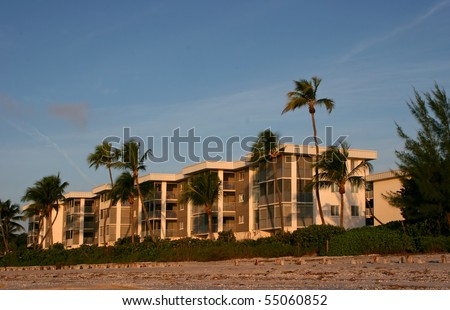 Oceanfront Beach Condominium Morning Sanibel Island Florida