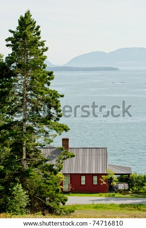 Oceanfront house at Flanders Bay in Maine