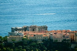 Oceanographic museum of Monaco and cruise ship