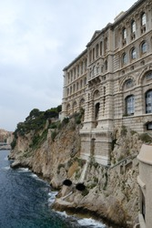 oceanographic museum of montecarlo in the heart of the principality of monaco, in the côte d'azur