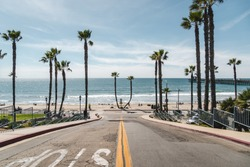Oceanside Pier, California / USA - March 2018: Views from and around the Oceanside Pier and beach.
