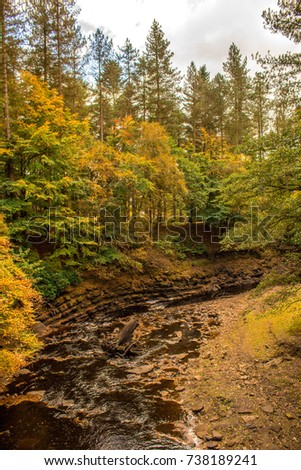 October 08, 2017 - Derwent Dam, Peak District, England, United Kingdom.  Derwent Dam is one of the most famous dams in the UK, this is where the 617 Squadron,  Foto d'archivio ©