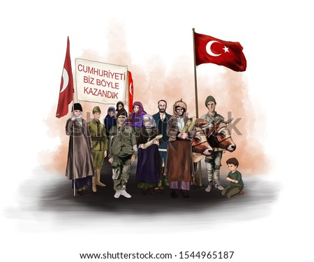 October 29 Republic Day,Turkish people after the war of liberation. Turkish people after the War of Independence. Tr translation: (29 Ekim cumhuriyet bayramı , kurtuluş savaşı sonrası türk halkı)