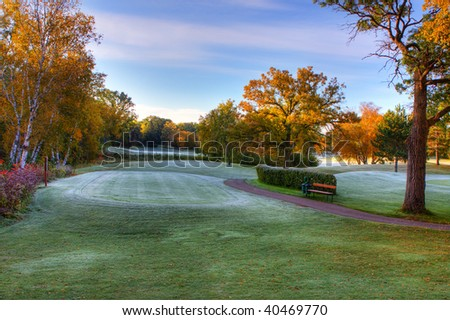 October's Fall Colors at the Golf Course.