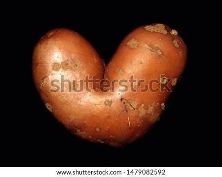Odd Funny Heart Shaped Potato #1479082592