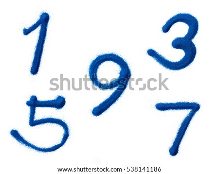 Odd number isolated on white background.
