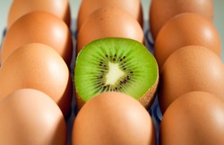 Odd one out: eggs and kiwifruit