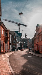 Odense city and landscape Denmark, Architecture and Urban Development project, Hans Christian Andersen city. Fyn an Island of Funen, Denmark's oldest town birthplace of poet.