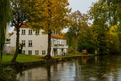 Odense, Denmark: Beautiful old buildings by the river in Odense.