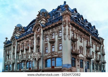 Odessa architecture on the main square isolated #1026972082