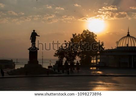 Odessa. Primorskiy Boulevard. Sunrise. #1098273896