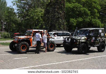 ODESSA, UKRAINE- MAY 12 : Competition off-road vehicles  \