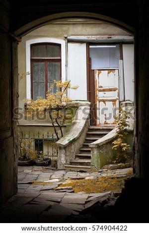 Odessa . yard. #574904422