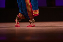 Odissi is a major ancient Indian classical dance form indian classical feet with Pada Bheda Traditional ankle bells called ghungroo, Alta(Red Dye)