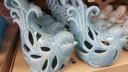 of little colorful ceramic birds