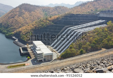 Of the dam hose to bring water to produce electricity.