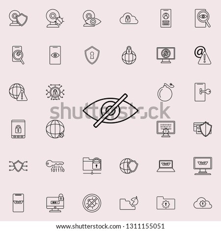 off eye icon. Virus Antivirus icons universal set for web and mobile #1311155051