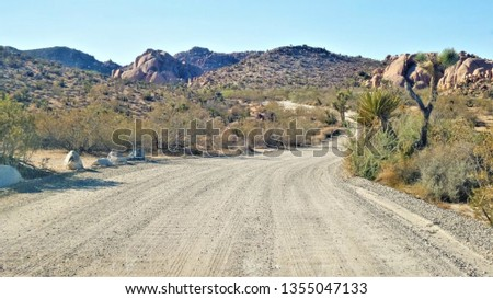 Off road / dirt road, California USA #1355047133