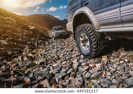 Off-road extreme Mountain travel adventure