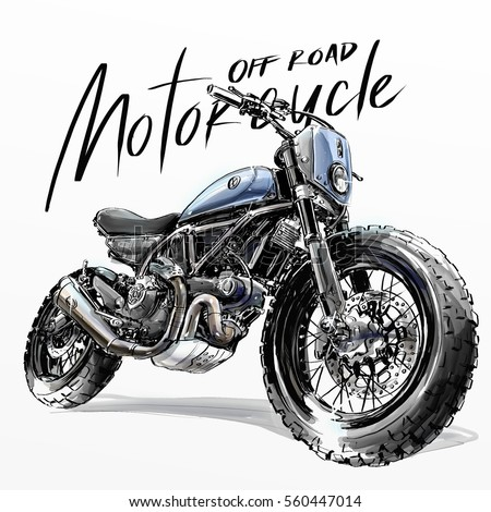 off road motorcycle poster...