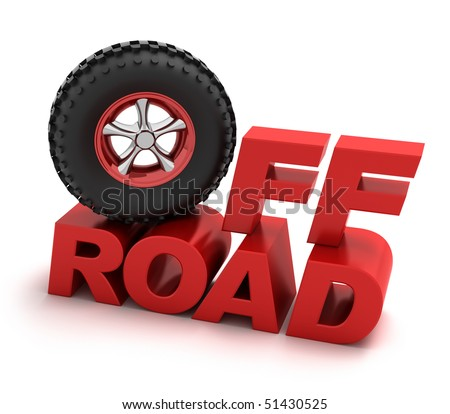 Off-road racing symbol