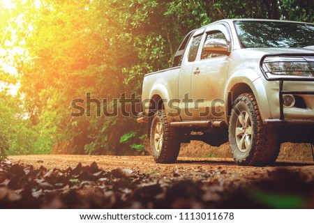 Off-road travel on mountain road after the rain. Stock photo ©