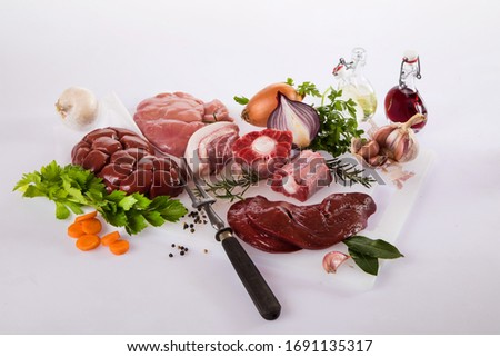 offal meat meal beef cooking Foto stock ©