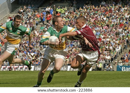 Offaly and Westmeath play in the Leinster football championship. Croke Park, Dublin