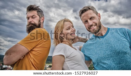 Offended partner still suffers. Girl stand between two men. What do when you feel rejected. Couple and rejected partner. How get over breakup for guys. Ruined relationships. Psychology of breakup. #1527926027