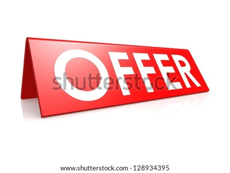 Offer tag in red