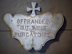 offerings for the purgatory souls in church in France
