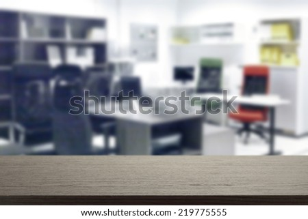 office and black desk
