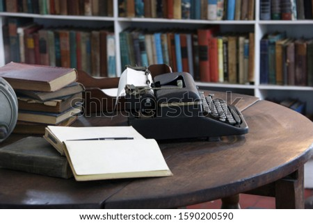 Office and typewriter in Ernest Hemingway's Home and Museum, Whitehead Street, Key West, Florida, United States