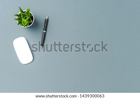 Office background with copyspace. Top view