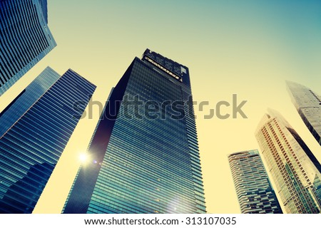 Office Building Cityscape Personal Perspective Concept #313107035