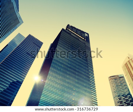 Office Building Cityscape Personal Perspective Concept #316736729